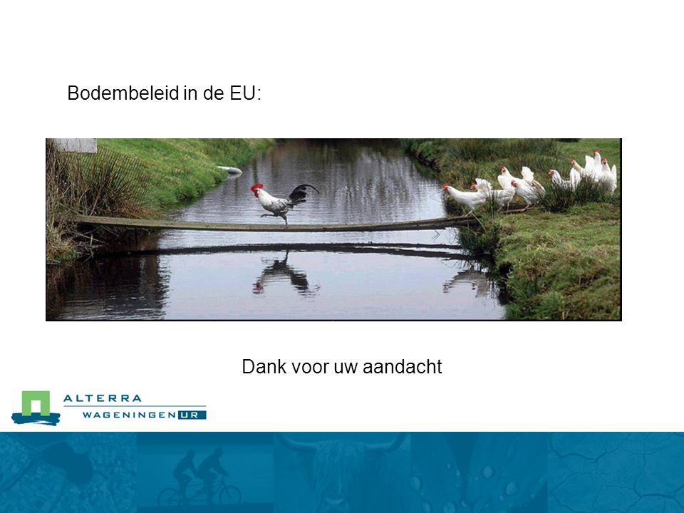 Bodembeleid in de EU: Dank voor uw aandacht