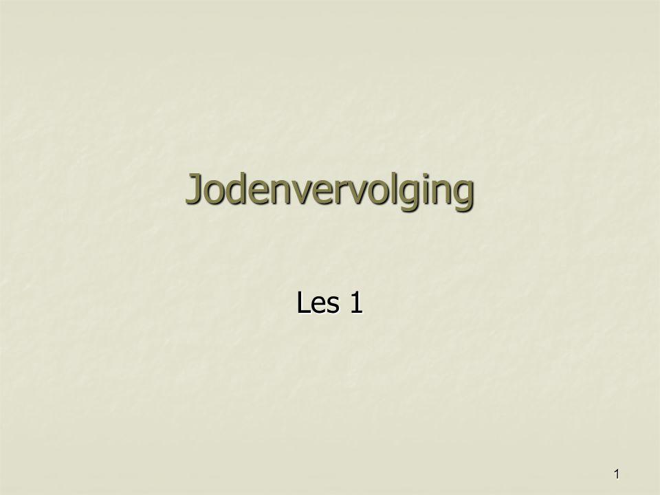 Jodenvervolging Les 1