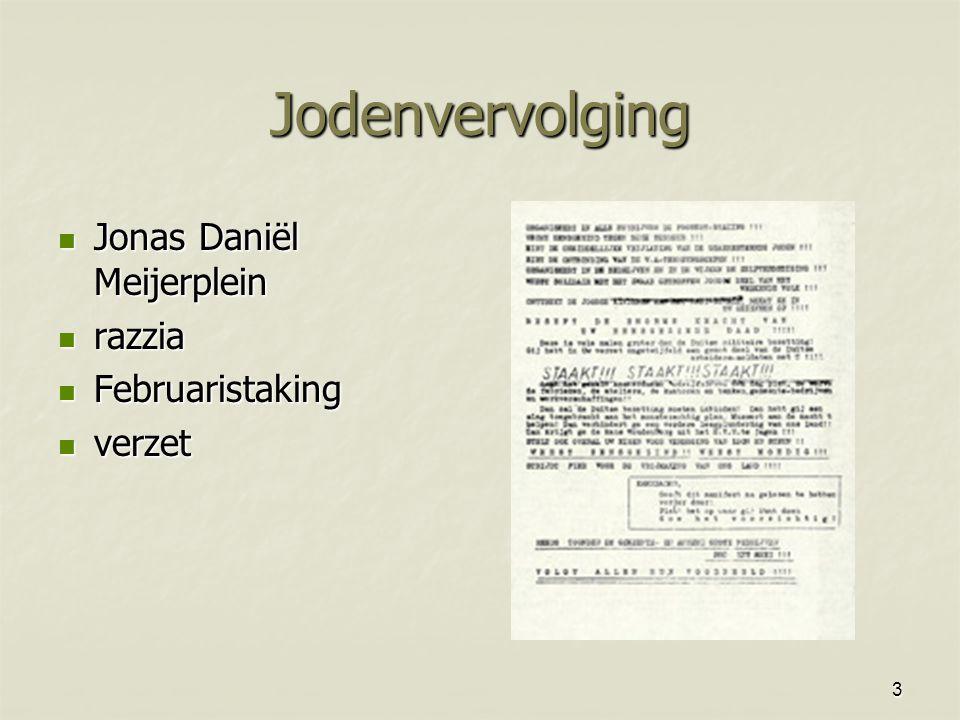 Jodenvervolging Jonas Daniël Meijerplein razzia Februaristaking verzet