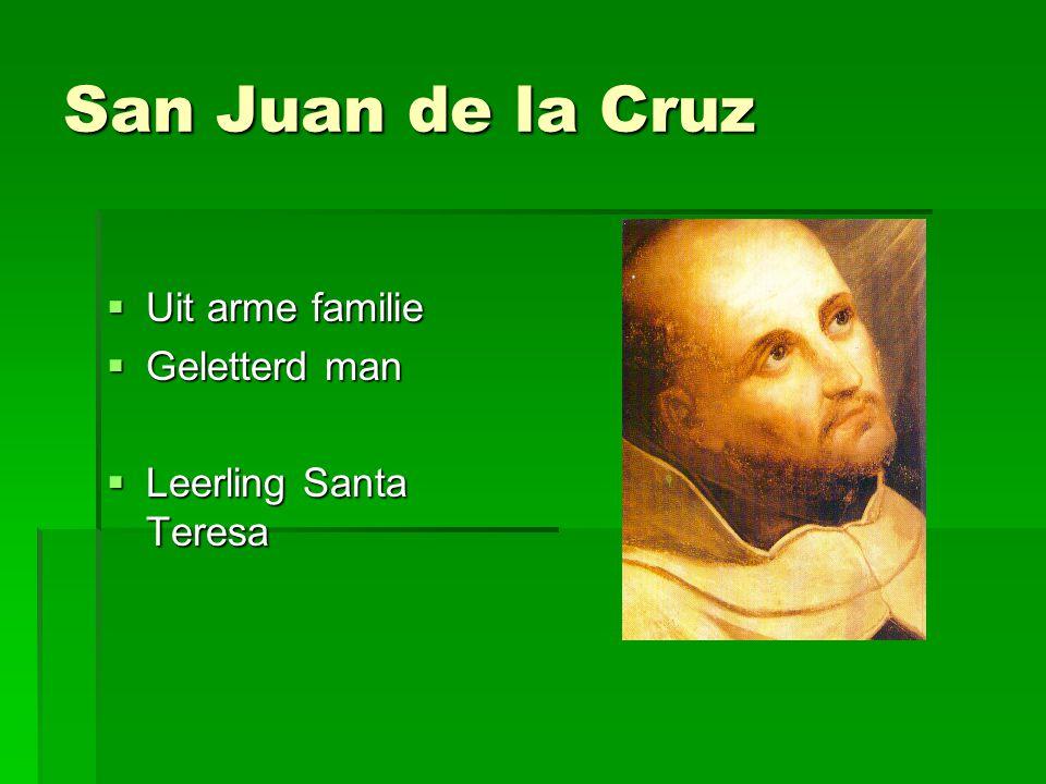 San Juan de la Cruz Uit arme familie Geletterd man