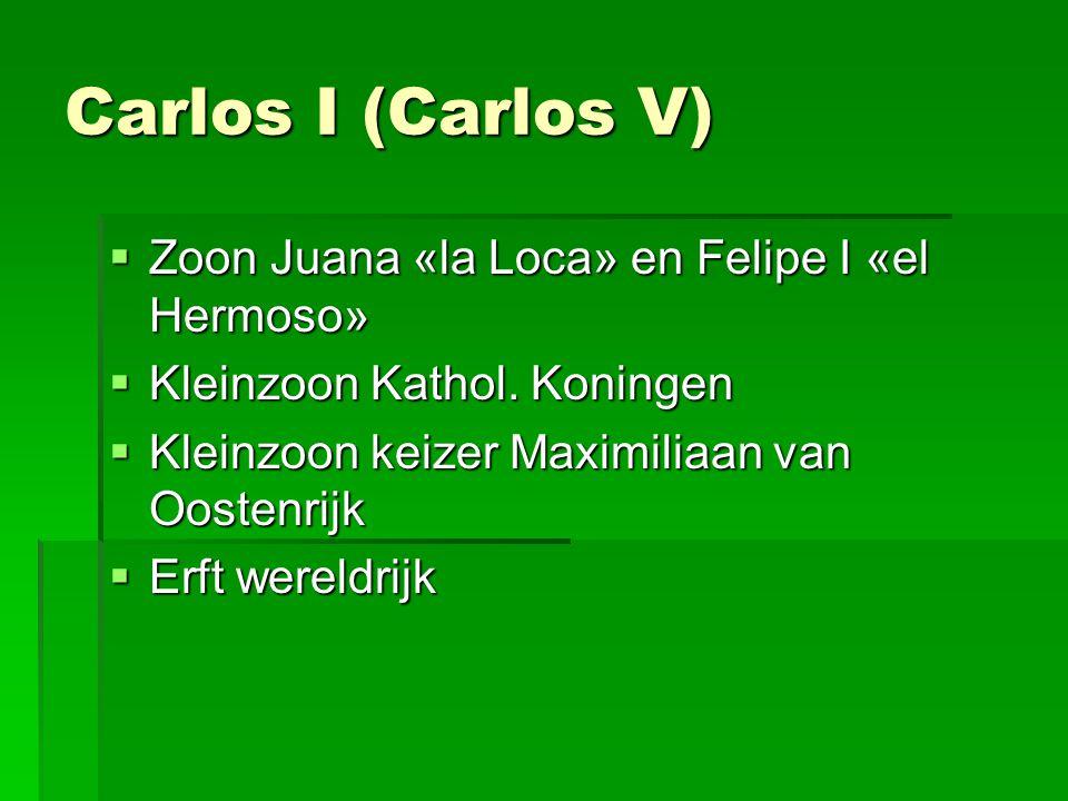 Carlos I (Carlos V) Zoon Juana «la Loca» en Felipe I «el Hermoso»