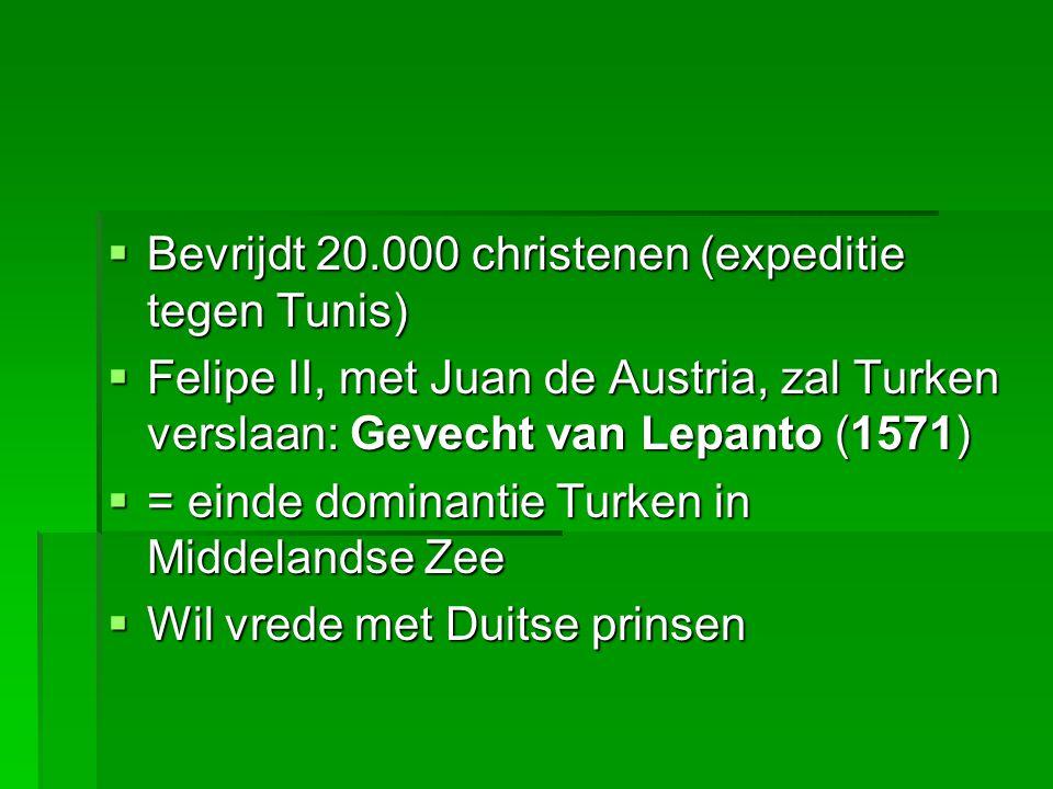 Bevrijdt 20.000 christenen (expeditie tegen Tunis)