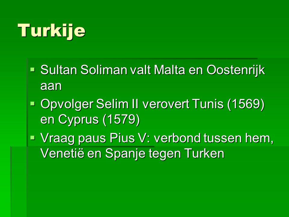 Turkije Sultan Soliman valt Malta en Oostenrijk aan