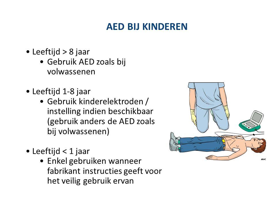 AED BIJ KINDEREN Leeftijd > 8 jaar