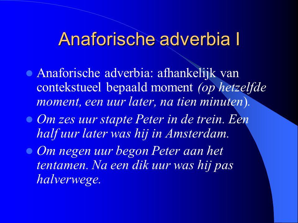 Anaforische adverbia I