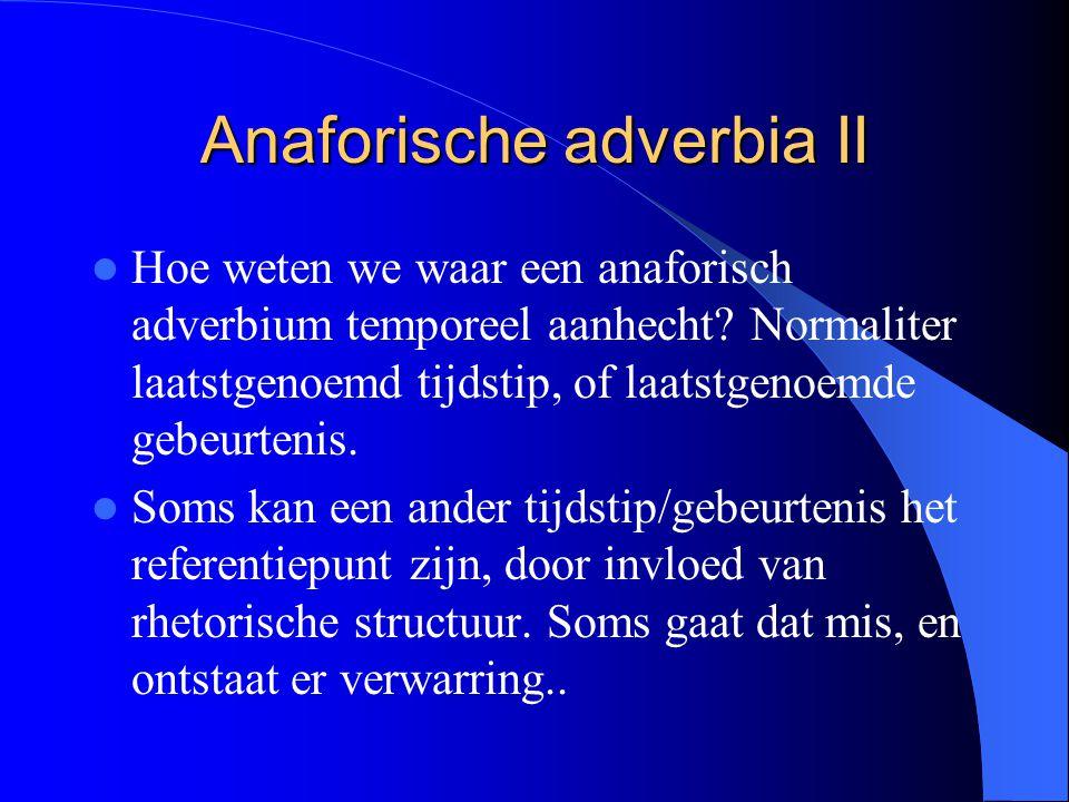 Anaforische adverbia II
