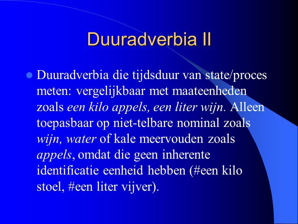 Duuradverbia II