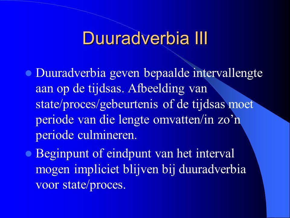 Duuradverbia III