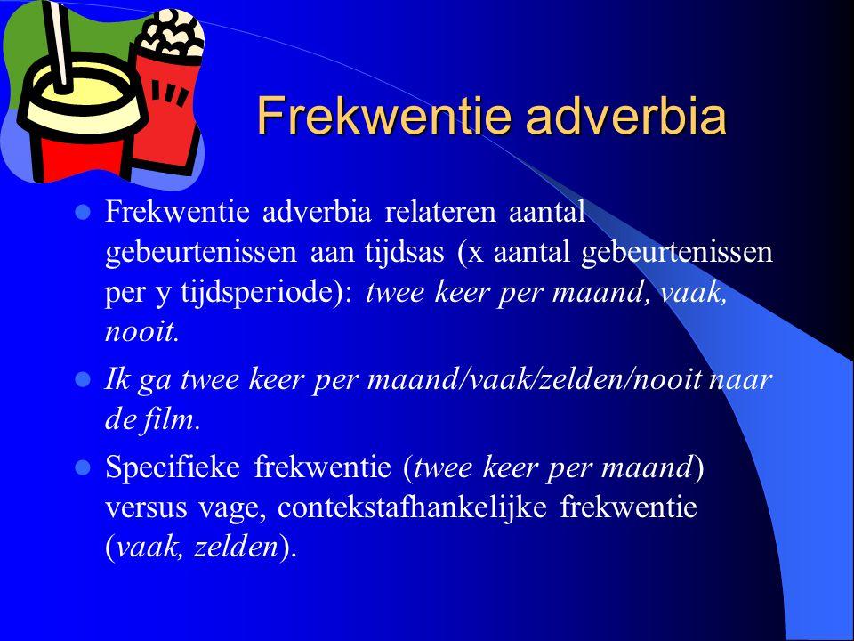 Frekwentie adverbia