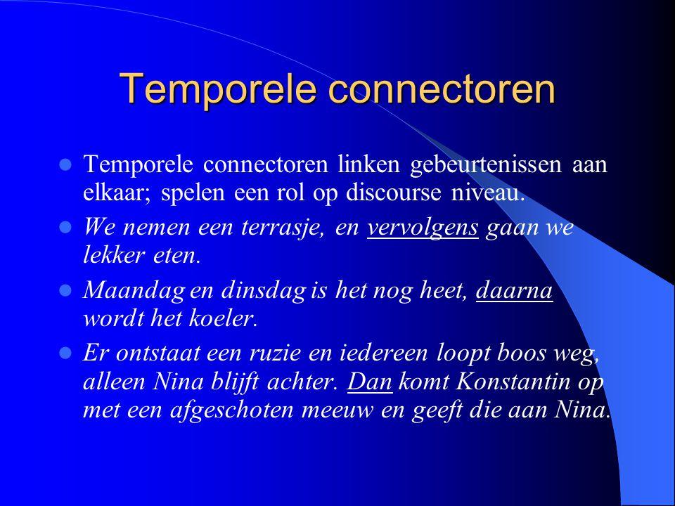 Temporele connectoren