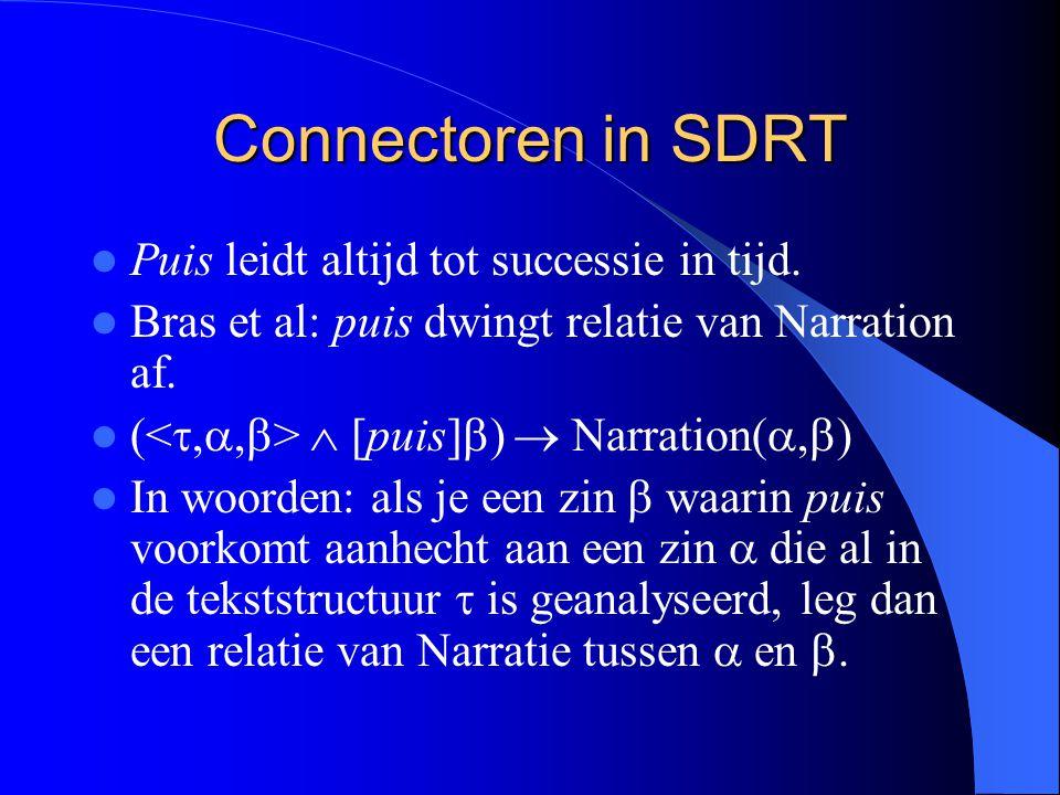 Connectoren in SDRT Puis leidt altijd tot successie in tijd.