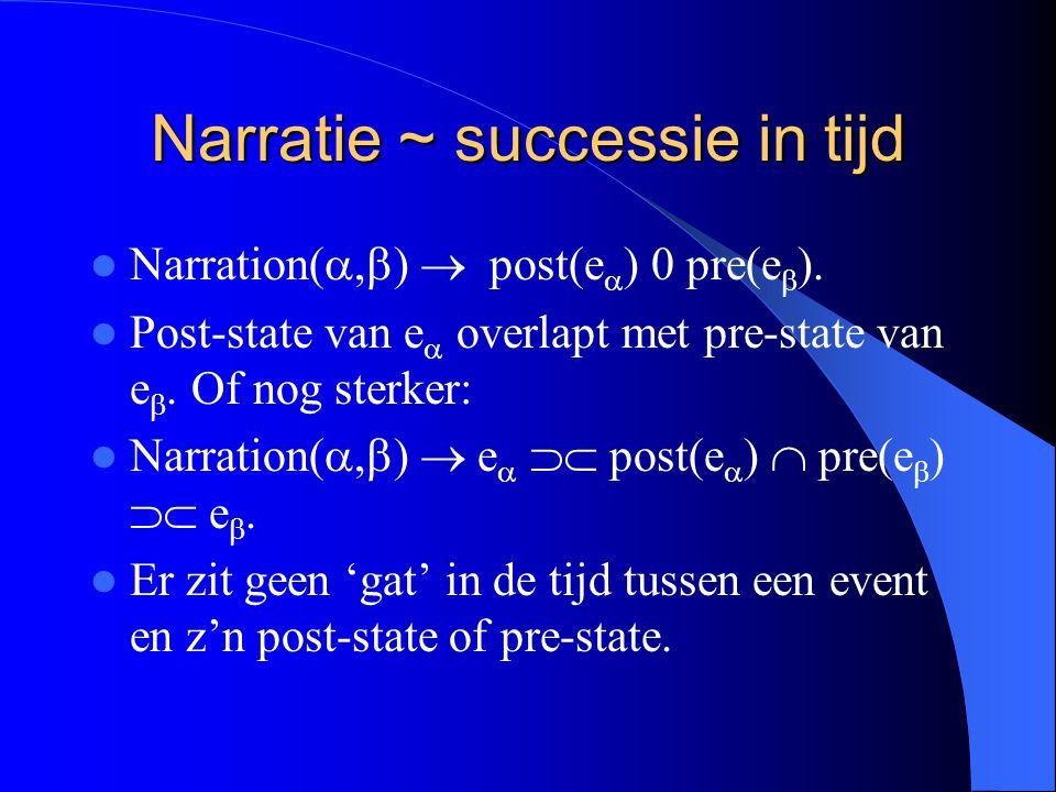 Narratie ~ successie in tijd