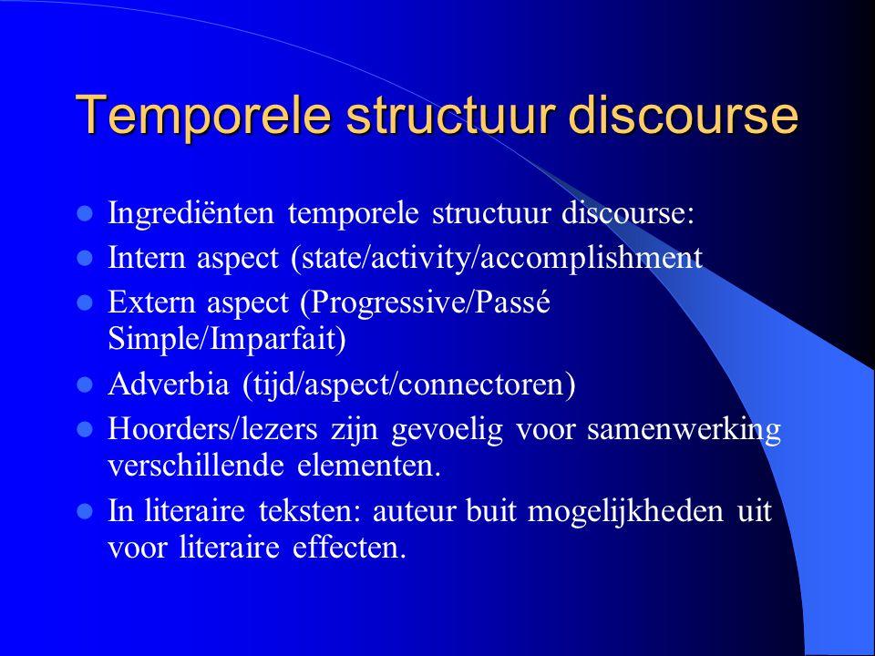 Temporele structuur discourse