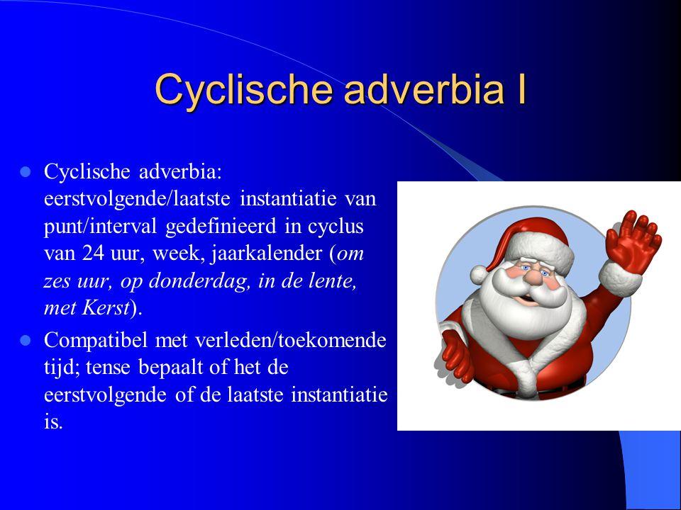 Cyclische adverbia I