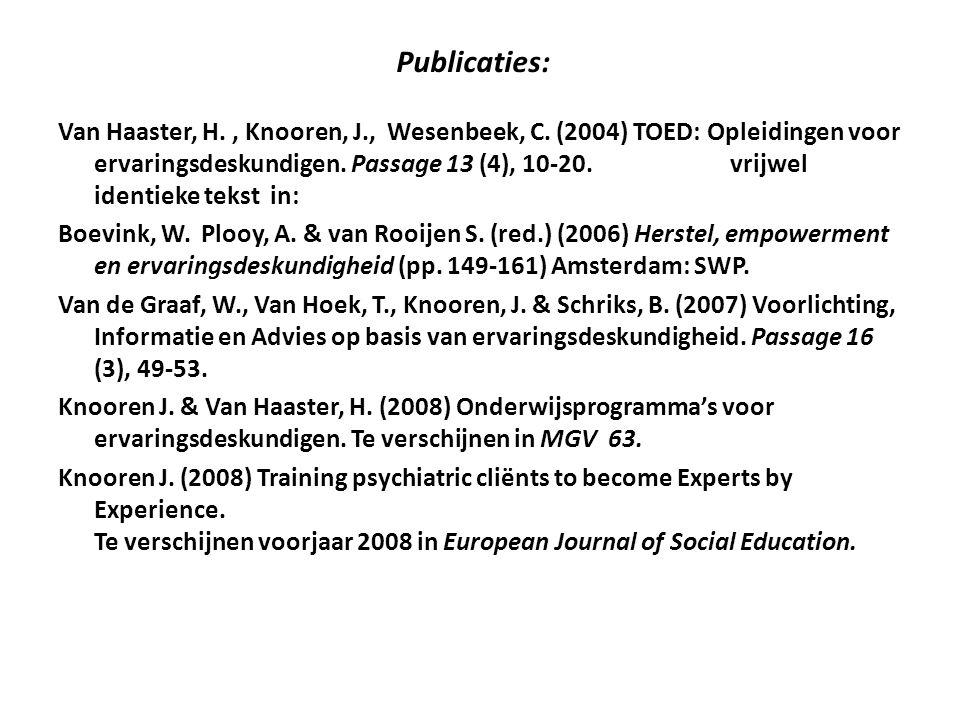 Publicaties: