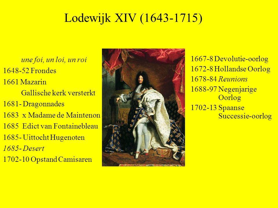 Lodewijk XIV (1643-1715) une foi, un loi, un roi 1648-52 Frondes