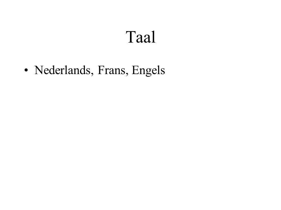 Taal Nederlands, Frans, Engels