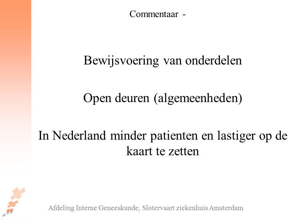 Bewijsvoering van onderdelen Open deuren (algemeenheden)
