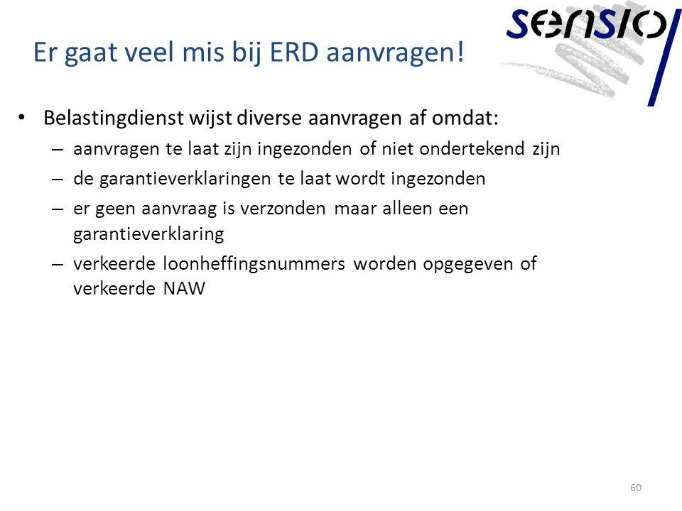 Er gaat veel mis bij ERD aanvragen!