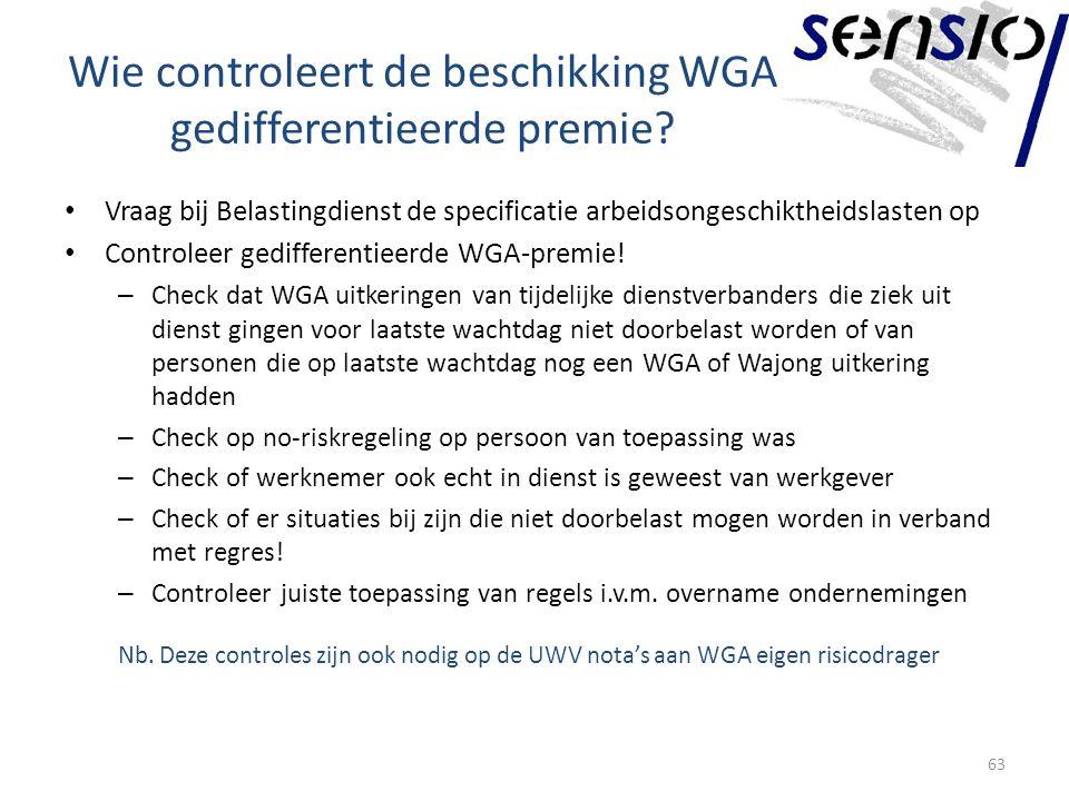Wie controleert de beschikking WGA gedifferentieerde premie