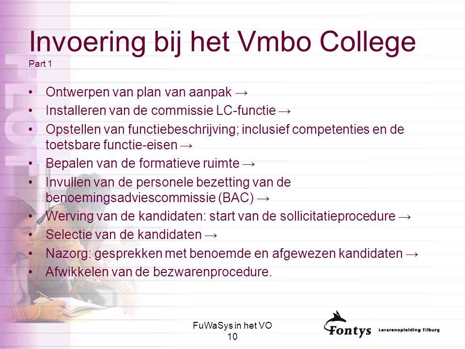Invoering bij het Vmbo College Part 1
