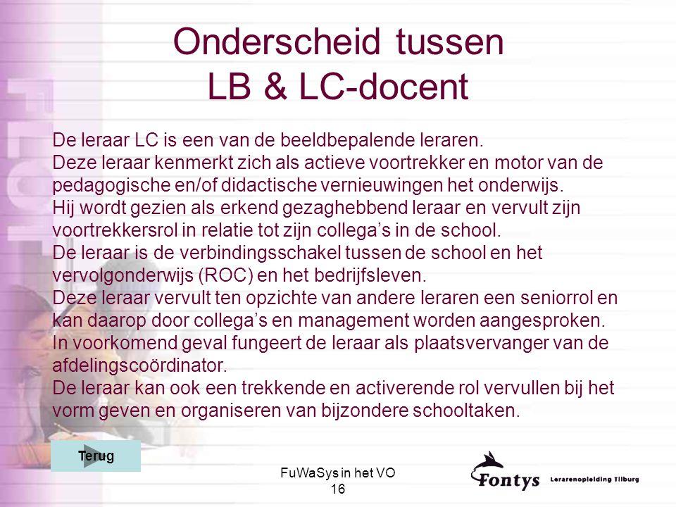 Onderscheid tussen LB & LC-docent