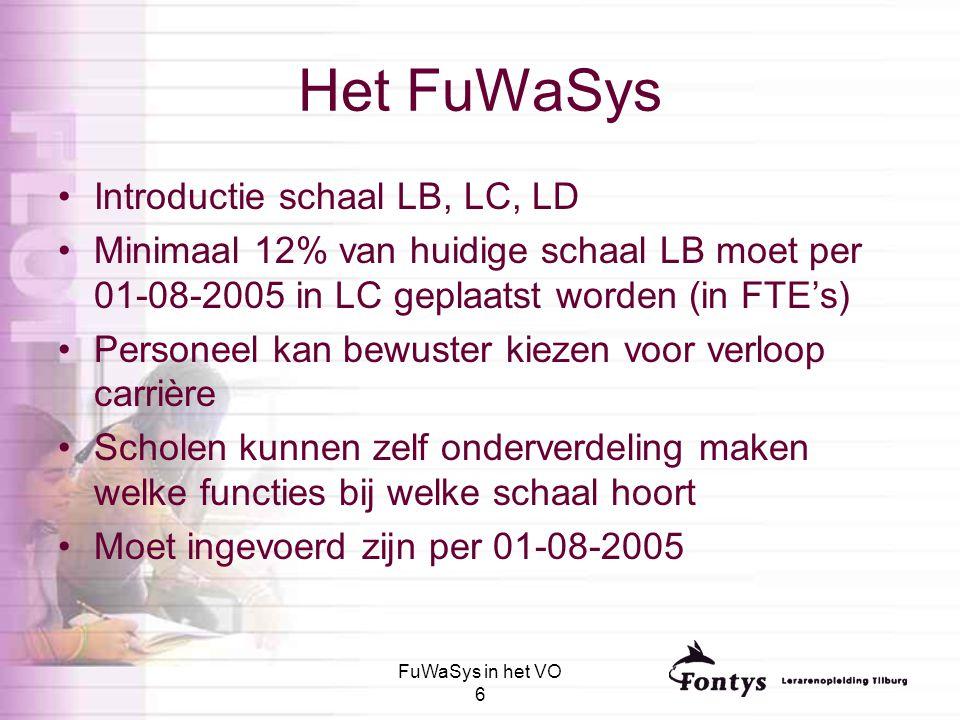 Het FuWaSys Introductie schaal LB, LC, LD