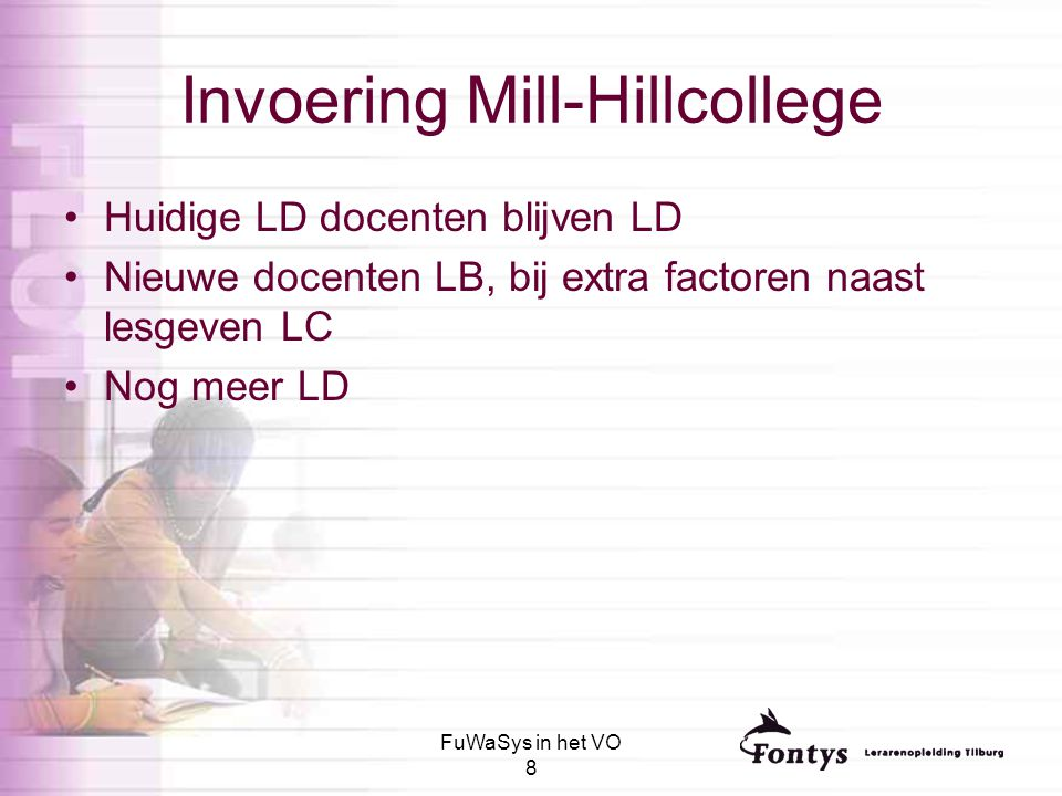 Invoering Mill-Hillcollege