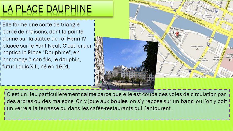La place Dauphine