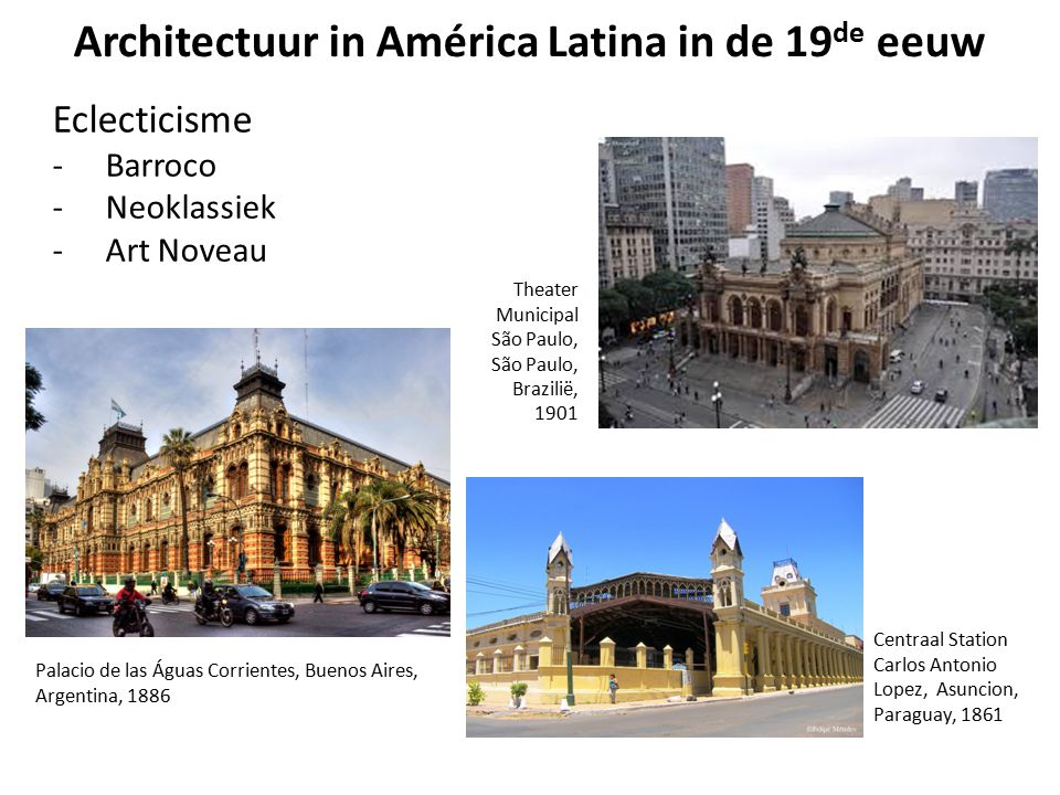 Architectuur in América Latina in de 19de eeuw