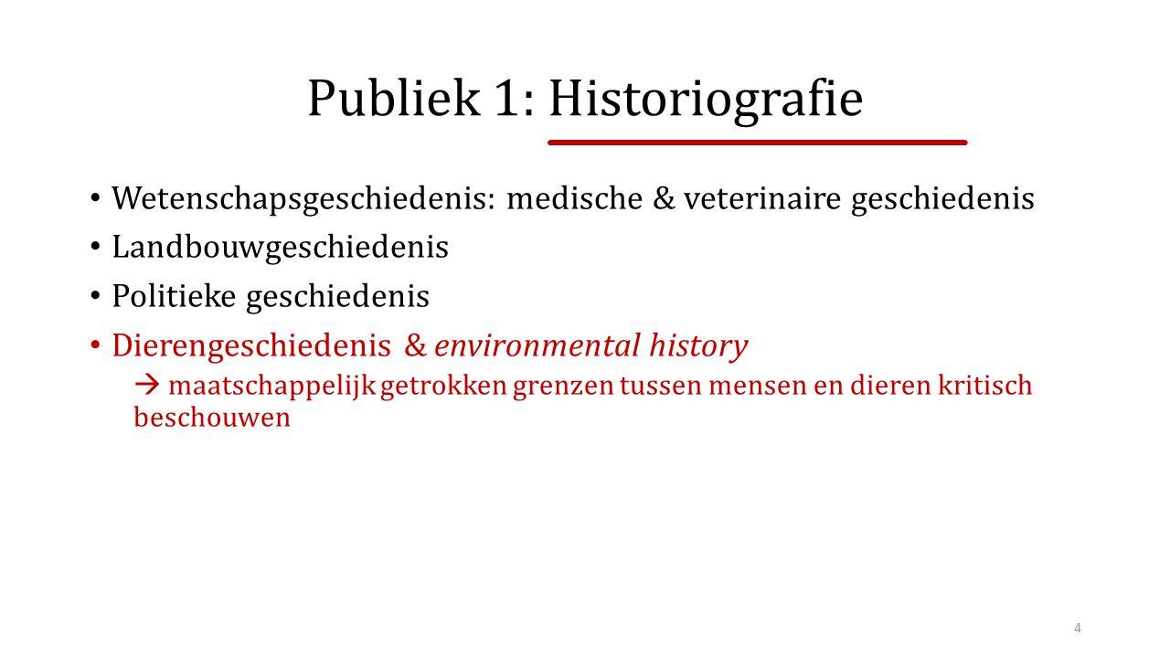 Publiek 1: Historiografie