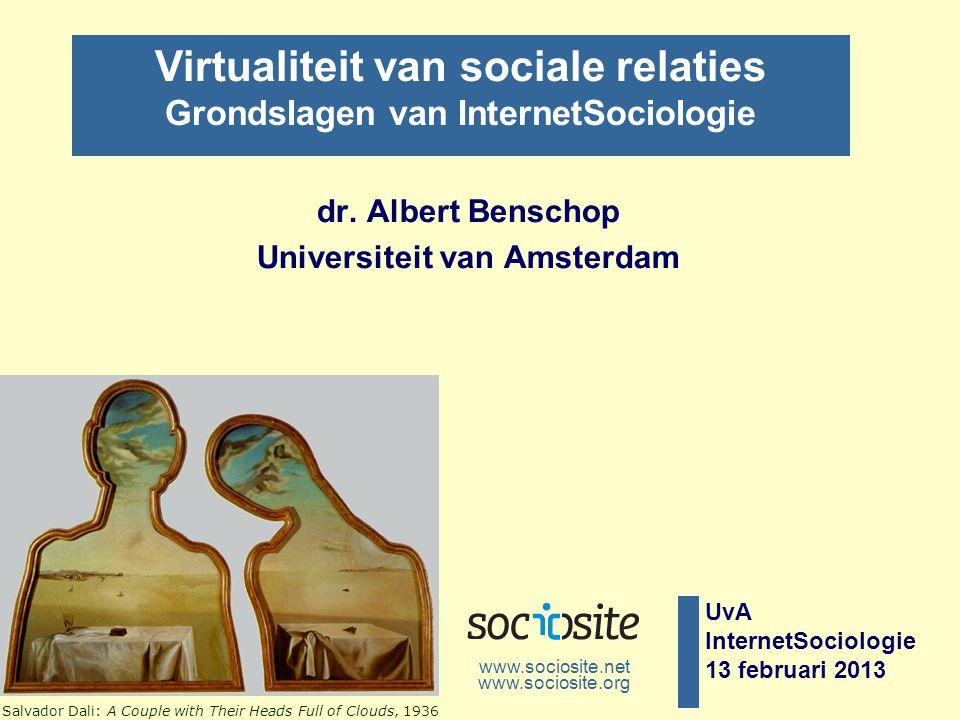 dr. Albert Benschop Universiteit van Amsterdam