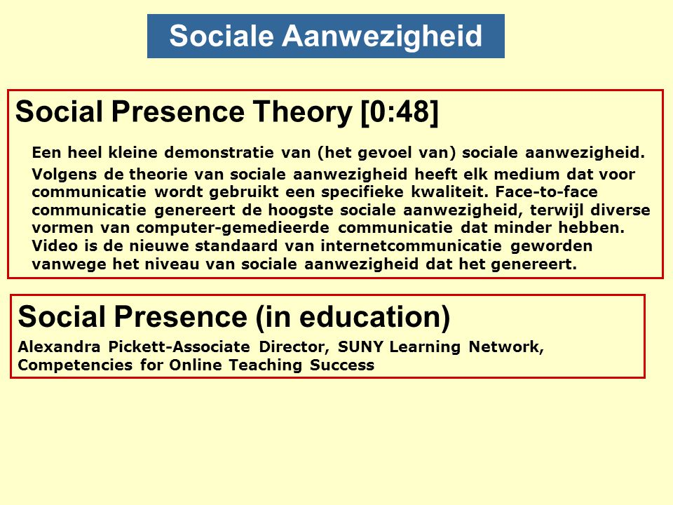 Social Presence (in education)