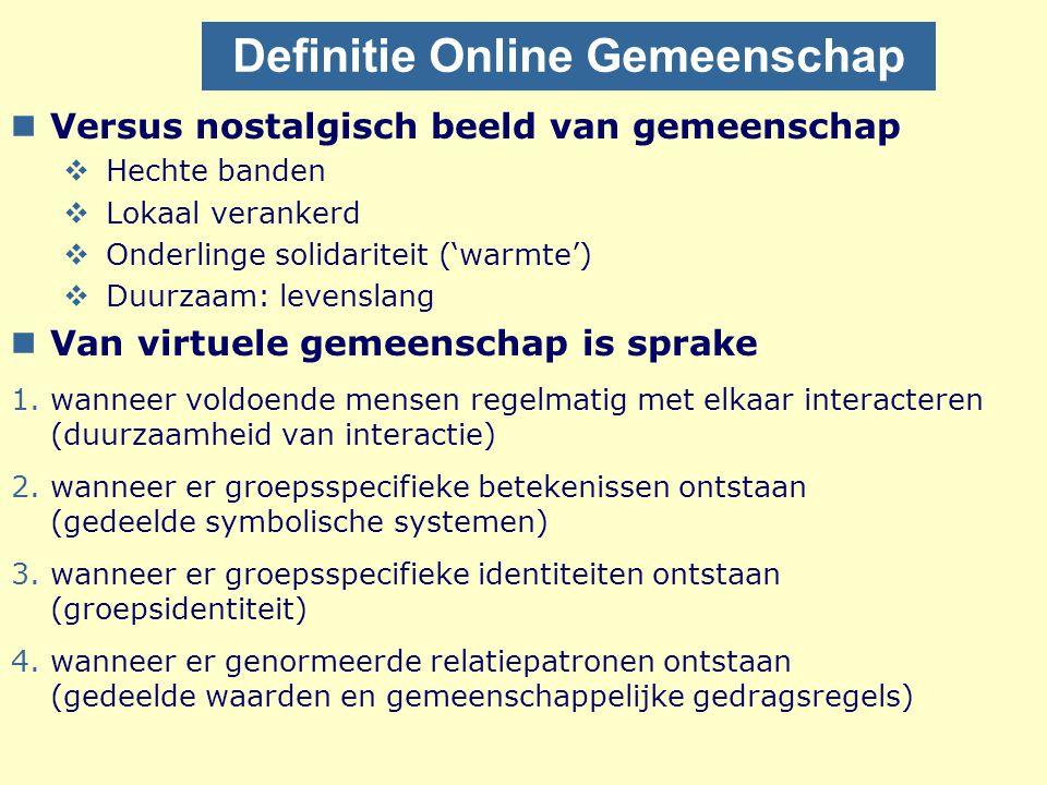 Definitie Online Gemeenschap