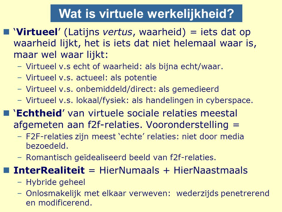 Wat is virtuele werkelijkheid