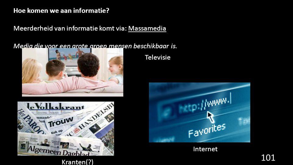 Hoe komen we aan informatie
