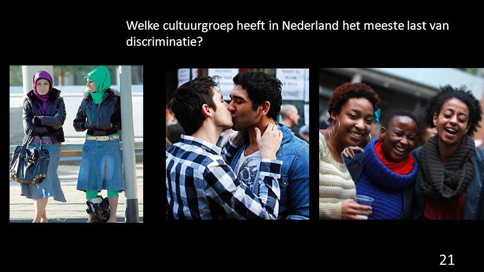 Welke cultuurgroep heeft in Nederland het meeste last van discriminatie
