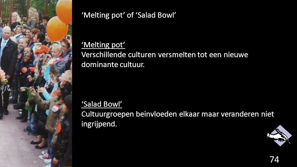 'Melting pot' of 'Salad Bowl'