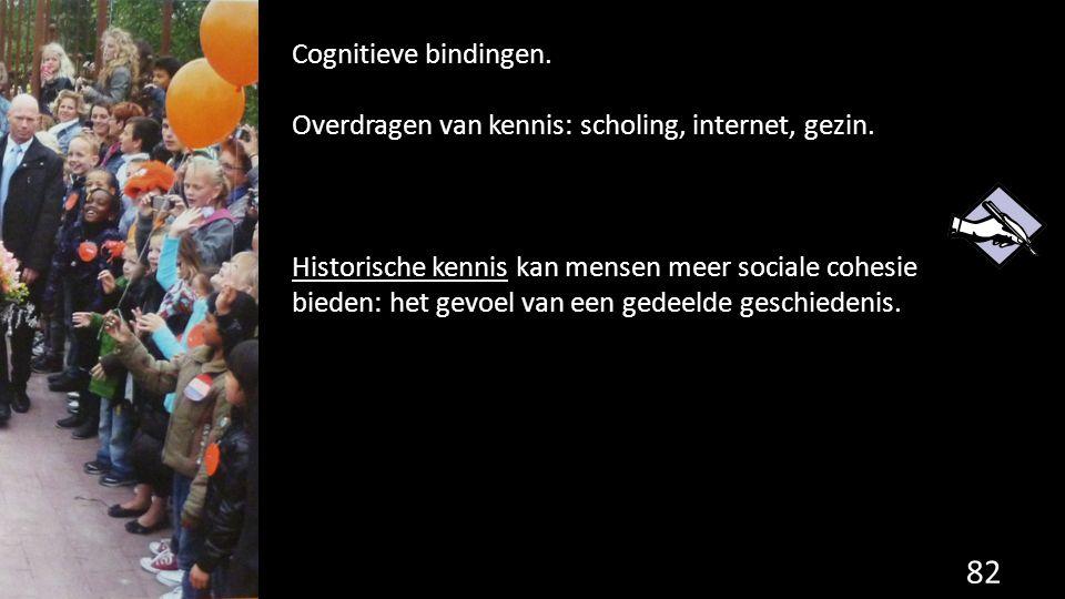 Cognitieve bindingen. Overdragen van kennis: scholing, internet, gezin.
