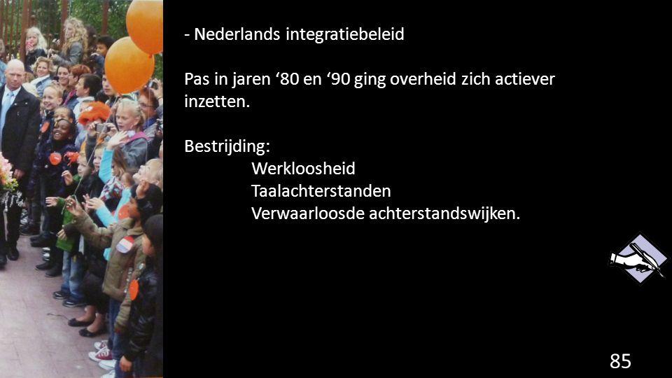 - Nederlands integratiebeleid
