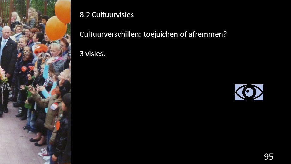 8.2 Cultuurvisies Cultuurverschillen: toejuichen of afremmen 3 visies.