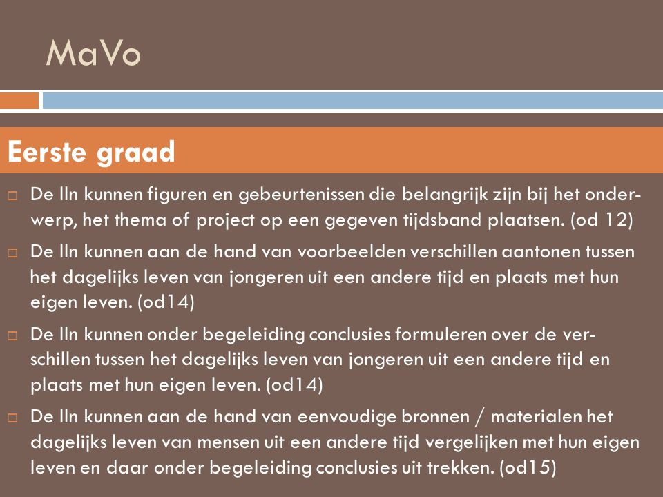 MaVo Eerste graad.