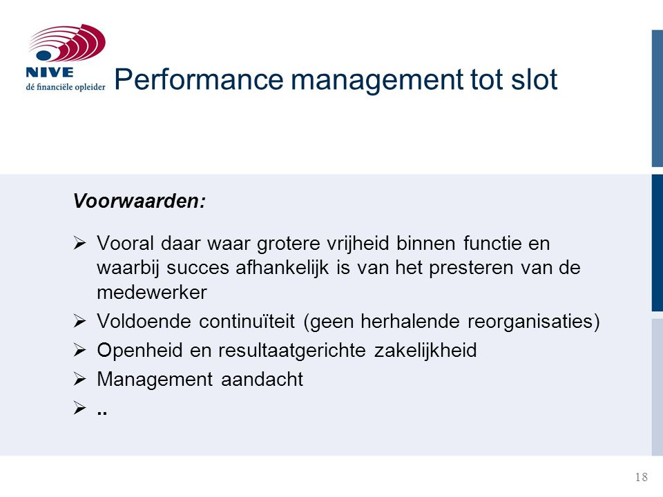 Performance management tot slot