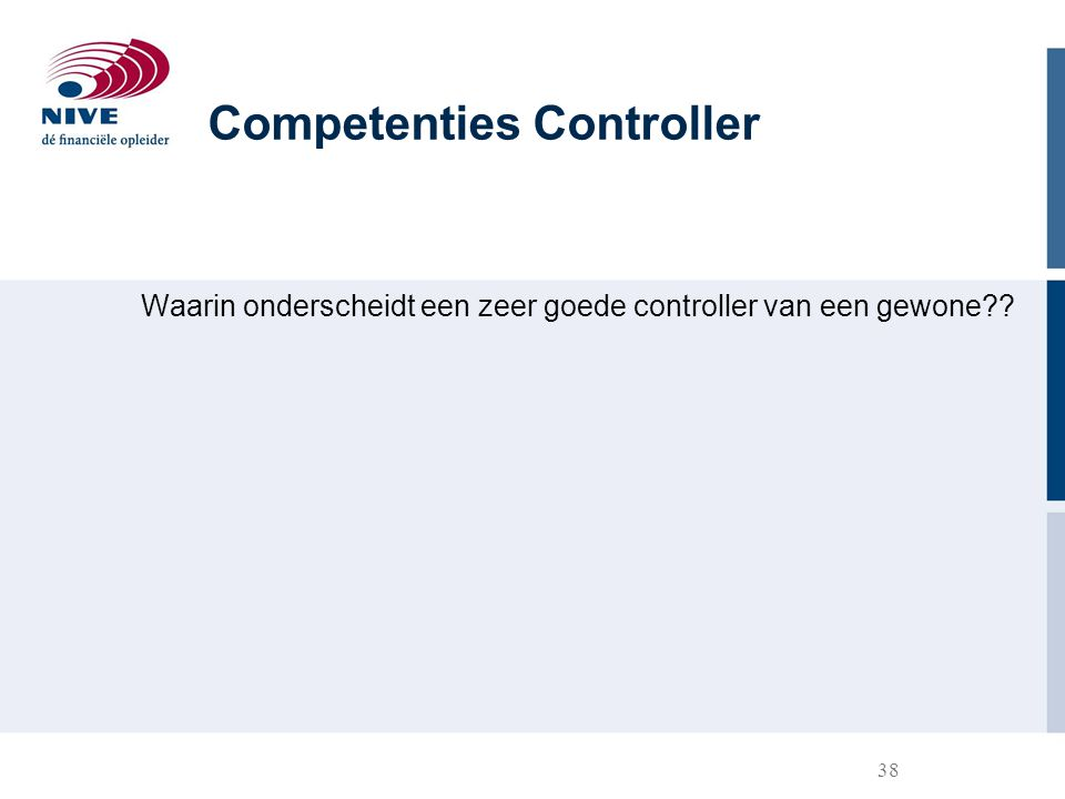 Competenties Controller