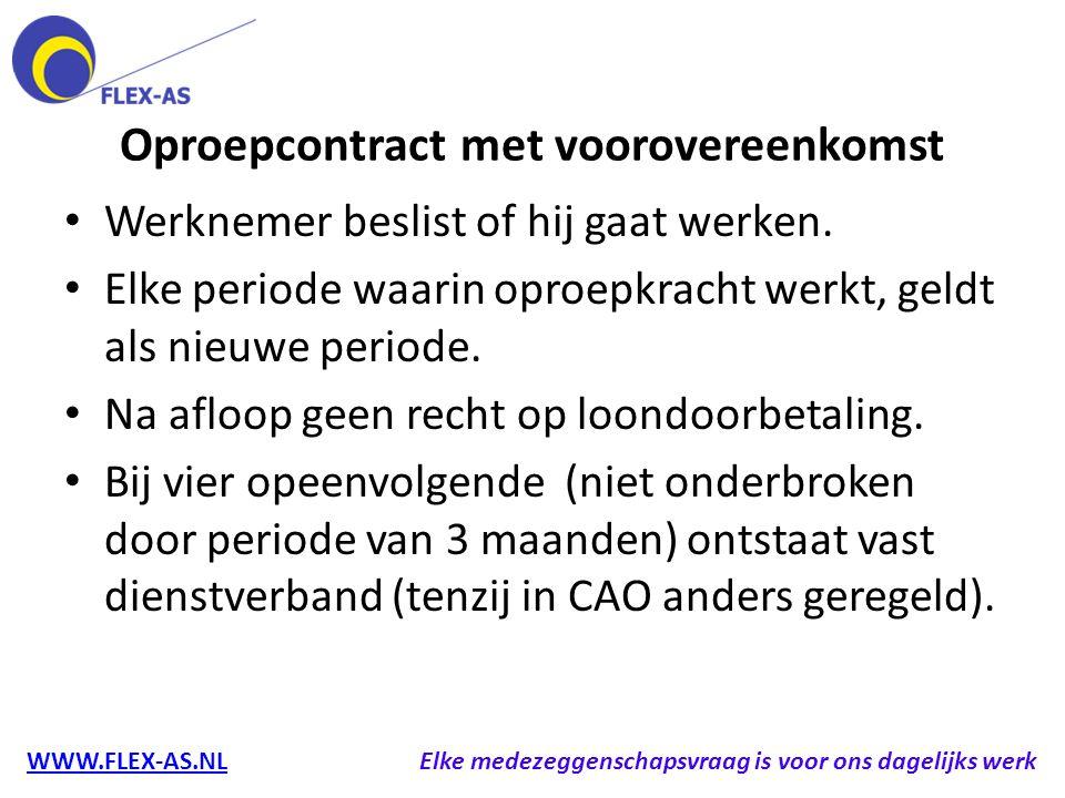 Oproepcontract met voorovereenkomst