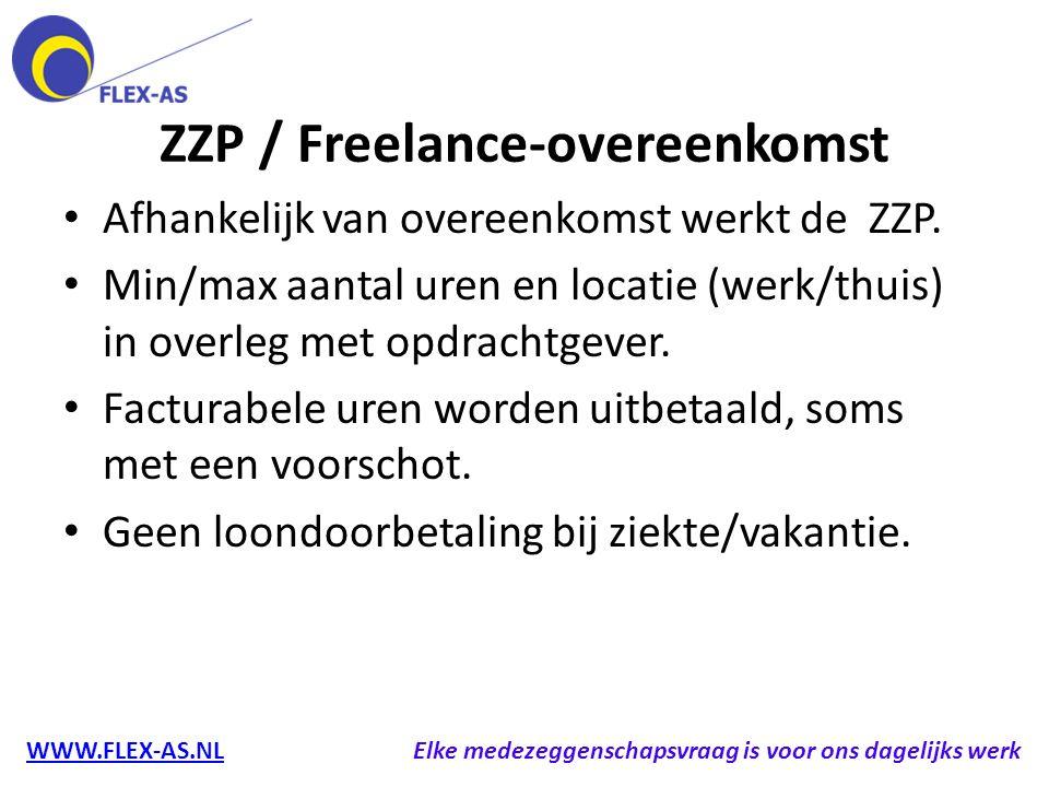 ZZP / Freelance-overeenkomst