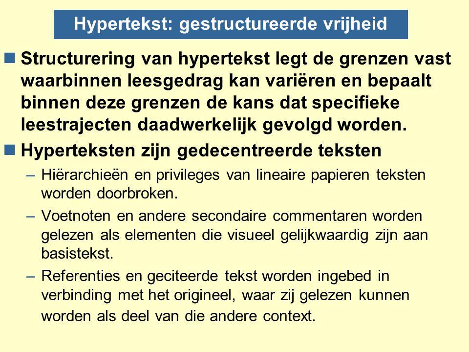 Hypertekst: gestructureerde vrijheid