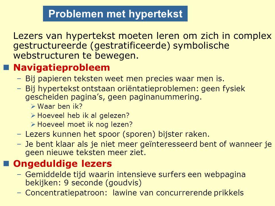 Problemen met hypertekst
