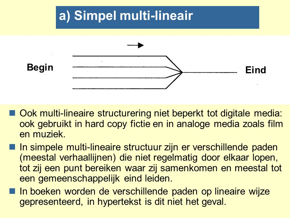a) Simpel multi-lineair