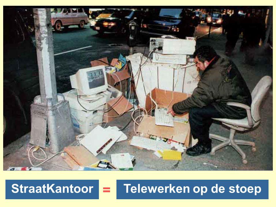 StraatKantoor Telewerken op de stoep =